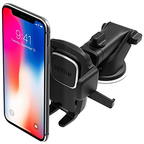 iOttie Easy One Touch 4 Dashboard & Windshield Car Phone Mount Holder for iPhone X 8 Plus 7 6s SE Samsung Galaxy S9 S8 Edge S7 S6 Note 8 & other Smartphone [10 Dollar Amazon Credit]