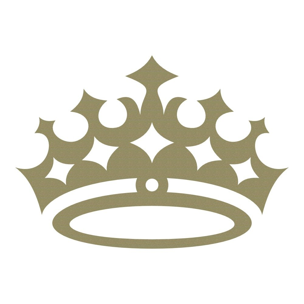 Azutura queens crown tiara royal regal princess wall stickers kids decor art decals available in 5 sizes and 25 colours x small gold metallic amazon co uk
