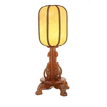GYP Tischlampe, Chinesisch Stil Massivholz Tischlampe, Wohnzimmer Tischlampe  Warm Schlafzimmer Nachttischlampe