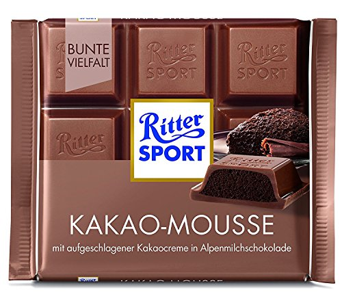 Ritter Sport Cocoa mousse (11 x 100 g) Chocolate Mousse Bar