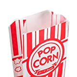 Carnival King URPARTY Paper Popcorn Bags, 1 oz, Red & White, 500 Bags