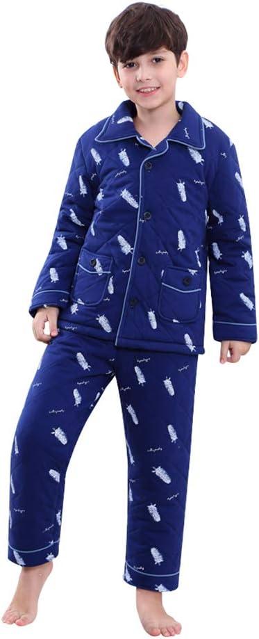 Pijamas dos piezas Pijama Grueso de Invierno de algodón para niños ...