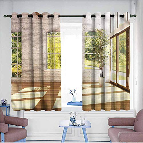 Mdxizc Polyester Curtain Italian Summer Town House Garden Breathability W72 xL63 Suitable for Bedroom,Living,Room,Study, - Sconce Italian Contemporary