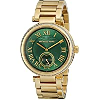 Michael Kors Women's Skylar Watch, Gold/Green, One Size