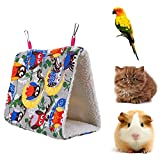 Jocestyle Pet bed Triangle Hammock Parrot Thickened Berber Fleece House Warm Hut Nest for Birds