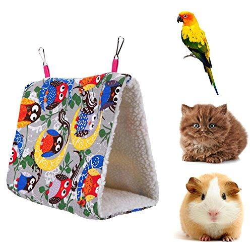 Bird Bed (Jocestyle Pet bed Triangle Hammock Parrot Thickened Berber Fleece House Warm Hut Nest for Birds)