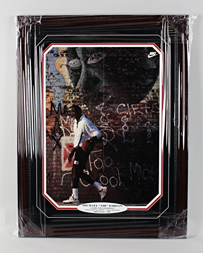 Michael Jordan Signed Display - Bulls - Michael Jordan Signed Wheaties 16x23 Poster in Display (Pers.) - JSA Full LOA