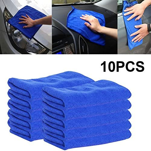 ZZH Water Absorbent Microfiber Towels for Cars Auto Microfiber Towel Blue Microfiber Microfiber 10Pcs//Set Ultra Soft