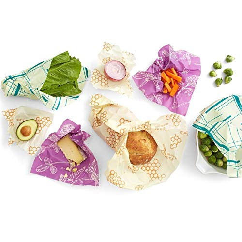 Bee's Wrap Sustainable Reusable Food Storage Variety Pack (2 Small, 2 Medium, 2 Large, 1 Bread) Bee' s Wrap