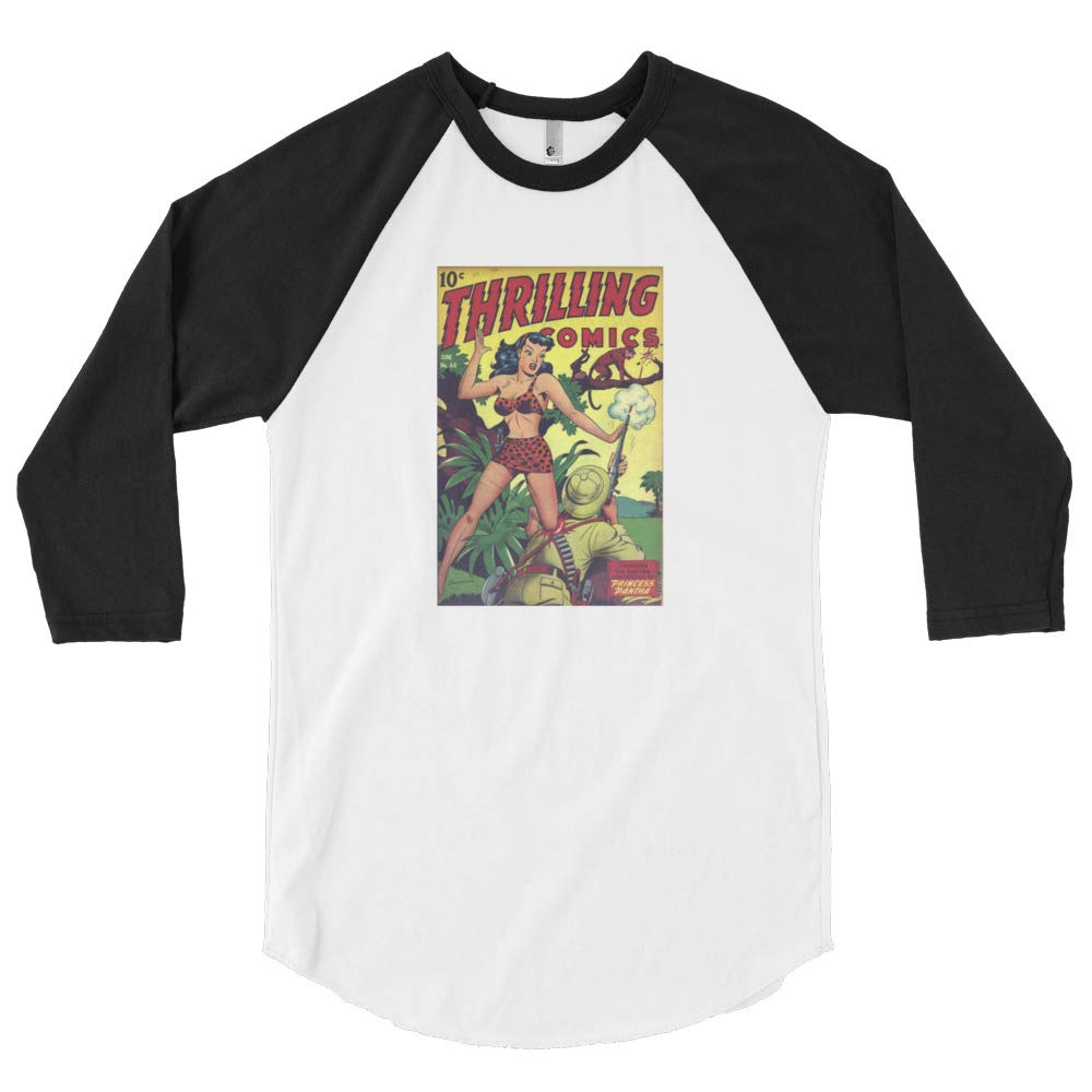 10 Cent Classic Comic Book Cover 3//4 Long Sleeve Shirt Mens
