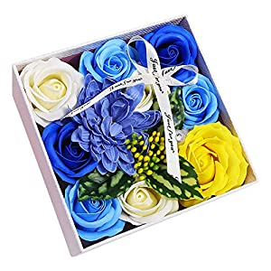 Cupcinu Artificial Rose Simulation Flowers Artificial Flowers Bouquet Real Looking Fake Roses for Home Bridal Wedding Party Festival Bar Decor 14
