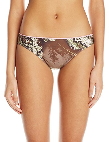 Realtree Girl Women's Low Rise Bikini Bottom with Sweetheart Ruched Back, Green, X-Large