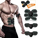 Smart Abs Muscle Trainer, Waitiee Abdominal Muscle Toner Electric Abdominal Exerciser Abs Gel Pads Smart Fitness for Men Women Home Gym Office