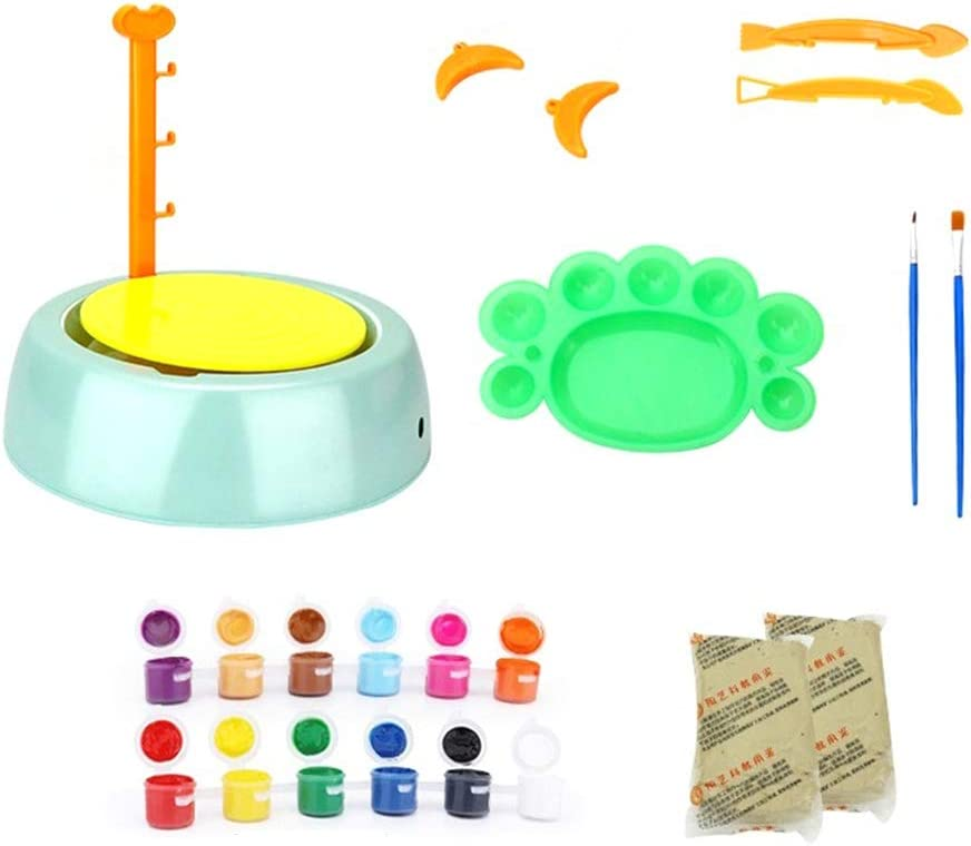 Pottery Studio Clay Pottery Wheel Craft Kit for Kids Age 6 and Up Pottery Wheel