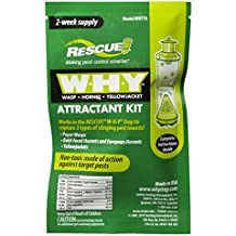 Rescue - WHY Trap Wasp, Hornet, Yellow Jacket Non-Toxic Attractant Refill [2 Week] (2 PACKS)