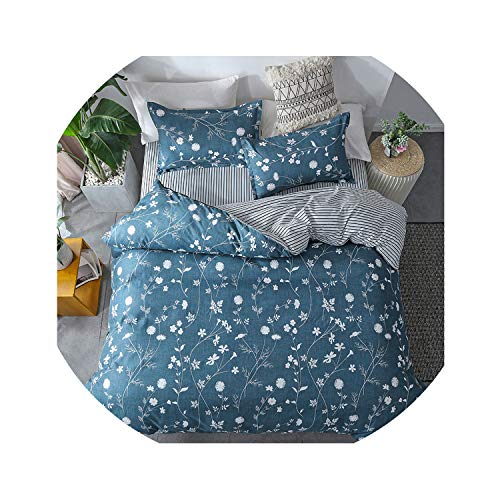 love enjoy Home Textile King Queen Twin Bed Linens Black Shooting Star Duvet Cover Sheet Pillowcase Boy Kid Teen Girl Bedding Sets,23,Twin 4Pcs,Flat Bed Sheet ()