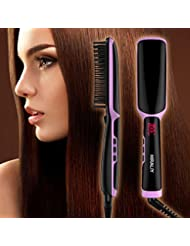 3-in-1 Ionic Straightening Brush Electrical Heated Irons...