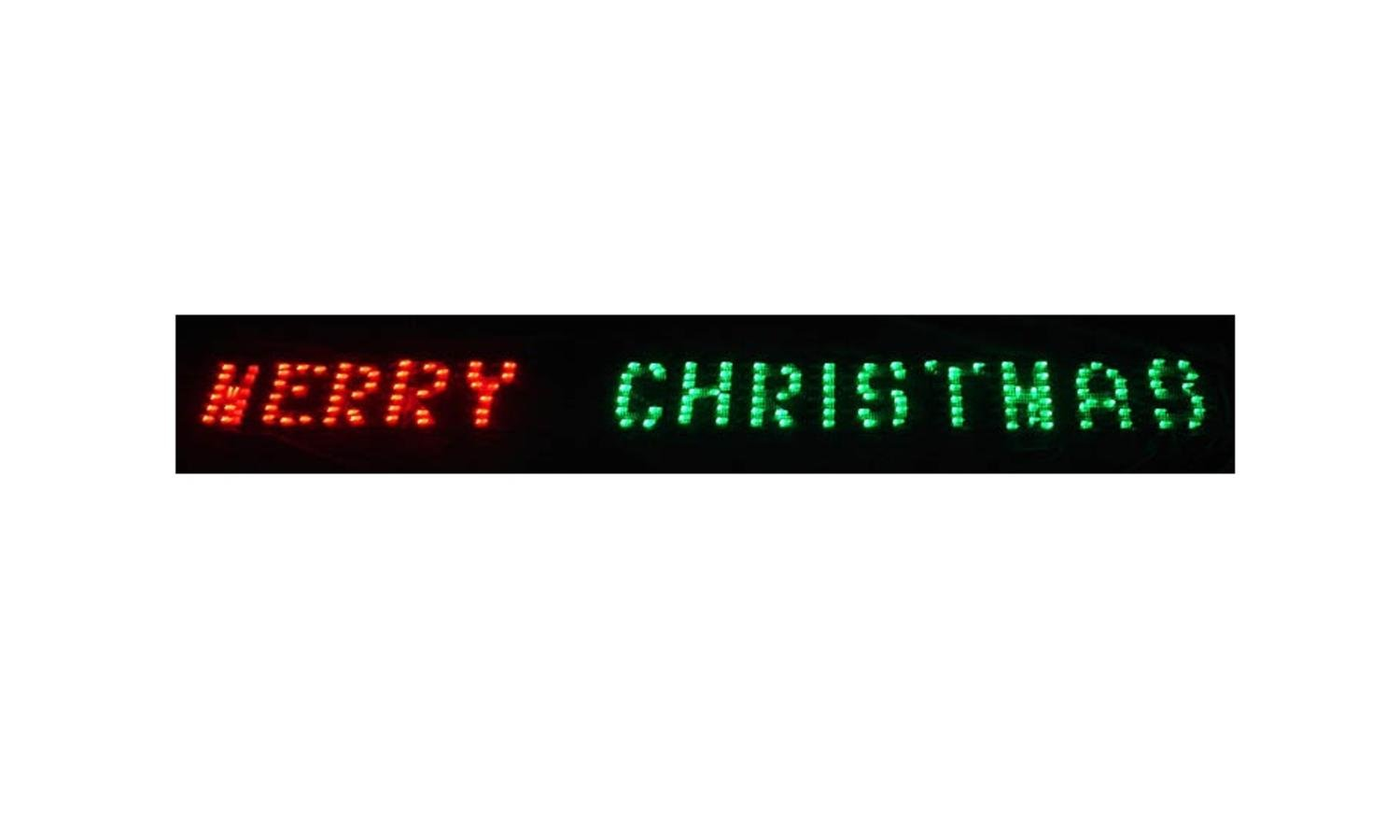 Sienna 80'' x 6'' Merry Christmas LED Lighted Holiday Banner - Red & Green Chasing Lights