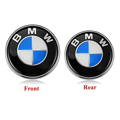 car sales BMW Emblems Hood and Trunk, Emblem Logo for BMW Replacement 82mm + 74mm for ALL Models BMW E30 E36 E46 E34 E39 E60 E65 E38 X3 X5 X6 3 4 5 6 7 8 (82mm+74mm): Automotive [5Bkhe2002040]