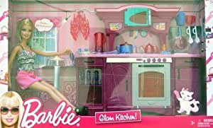 Barbie glam kitchen play set large box play for Kitchen set wala game