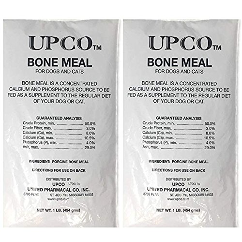(Bone Meal Steamed Powder for Dogs and Cats 2 Pack Total 2 Pounds from Upco Bone Meal Made in USA)
