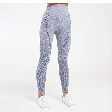 Pantalones De Yoga Sin Costura Cintura Alta Gimnasio ...
