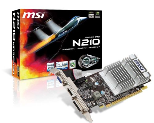 Photo - MSI GeForce 210 512 MB DDR3 TurboCache 1 GB VGA/DVI/HDMI PCI Express x16 2.0 Graphics Card (N210-MD512D3H/TC)