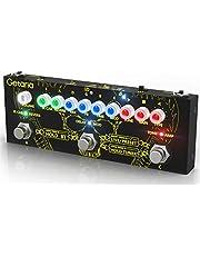 Pedal de efectos de guitarra Getaria con procesador multiefectos portátil con carga IR, edición, almacenamiento, Bluetooth, grabación, sintonizador, auriculares / amplificador de 3,5 mm, batería incorporada
