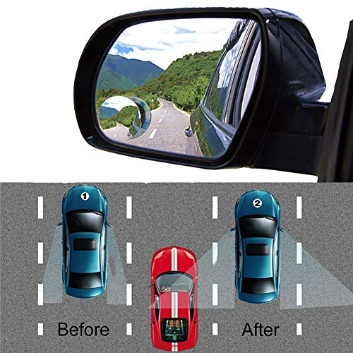Dragon Honor Blind Spot Mirror Round 2PCS Frameless Convex Rear View ()