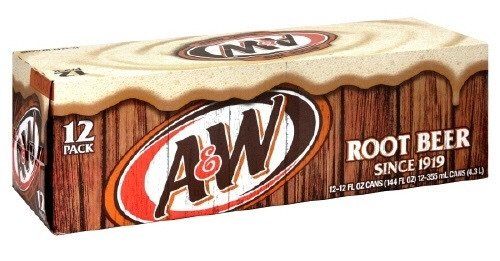 A&W Root Beer 12Oz Cans 24/Case