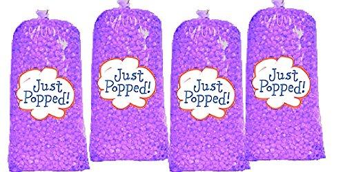 Purple Colored Party Popcorn 4-Pack (72 Cups per (Purple Popcorn)