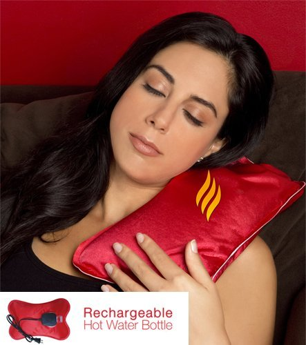 Rechargeable Electric Hot Water Bottle – Heat lasts 2 - 5 Hours - Portable Heated Pad, the Perfect Pain Relief.