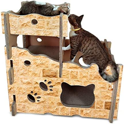 Zhouzl Hogar y jardín Suministros para Mascotas Camas par CP199 Castle Style Cat Litter Papel Corrugado Cat Scratch Board Grinding Claw Toy Camas para Mascotas: Amazon.es: Hogar