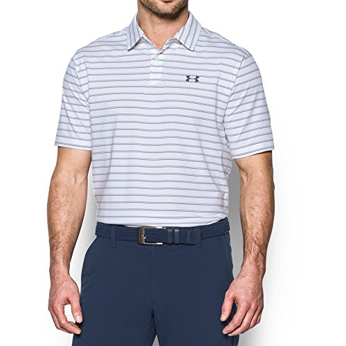 - Under Armour Men's CoolSwitch Putting Stripe Polo, White /Graphite, XX-Large