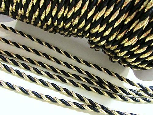 10 Yards Metallic Twisted Twine Cord Trim 5mm/Braid/Trimming/Band #ID-861