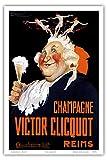 """Victor Clicquot, French Veuve Clicquot Champagner; , Reims (Champagne, France); Belle Époque, Art Nouveau, Art Deco; Vintage French advertising poster; """"Les Maitres de l'Affiche"""" c.1900 - Master Art Print - 12in x 18in"""