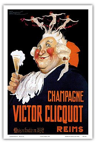 Victor Clicquot, French Veuve Clicquot Champagner , Reims Champagne, France Belle ?poque, Art Nouveau, Deco Vintage French advertising poster Les Maitres de l Affiche c.1900 - Master Print