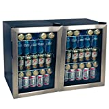 EdgeStar BWC90DUAL 34 Inch Wide 168 Can Beverage Cooler with Extreme Cool