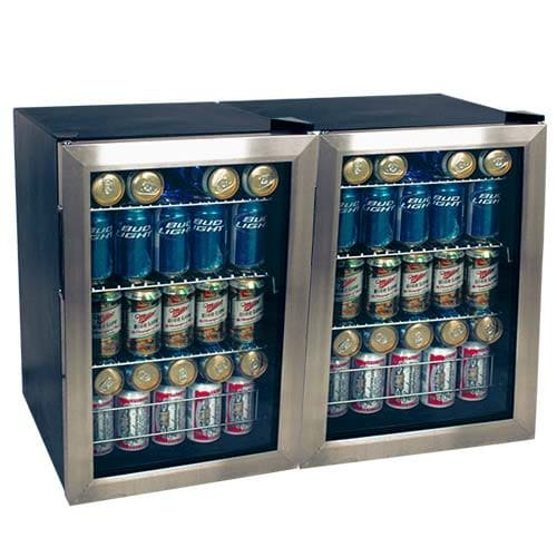 Discover Bargain EdgeStar BWC90DUAL 34 Inch Wide 168 Can Beverage Cooler with Extreme Cool