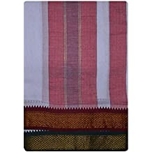 JISB Cotton kanchimunthi Dhoti with Angavastram For Men (Size:9x5)
