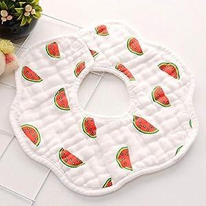 (3 pieces) Baby Bib, 360 degree rotation, 8 layers of gauze, tulle, baby handkerchief, burping cloth, soft newborn…