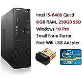 2017 Newest Lenovo High Performance SFF Desktop Computer | Intel i5-6400 | Quad core| 8GB RAM | 250GB SSD | DVD±RW | Windows 10 Pro Slim Keyboard & Optical Mouse Included (8GB+250GB SSD)
