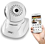 Pyle PIPCAMHD82 HD 1080p Wireless IP Video Security Surveillance Camera – Live Remote Monitoring via Mobile App PTZ, White Review