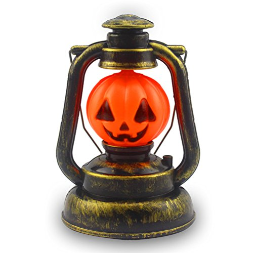 Chicprince Halloween Decoration Pumpkin Lantern Hand Lamp with Night Light and Scary Laugh]()