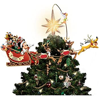 Bradford Exchange Disneys Timeless Holiday Treasures Tree Topper By The