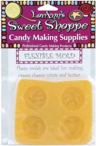 Yellow Rubber Mint Mold - Jo-Ann Stores Flexible Candy Making Molds-Double Wedding Bell,Yellow