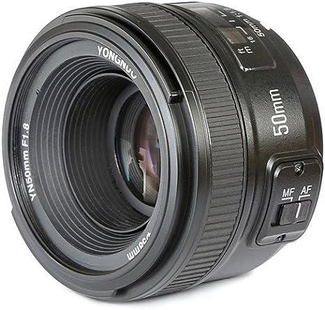 Yongnuo YN50MM - Objetivo para cámaras Nikon DSLR (f/1.8, 58 mm ...