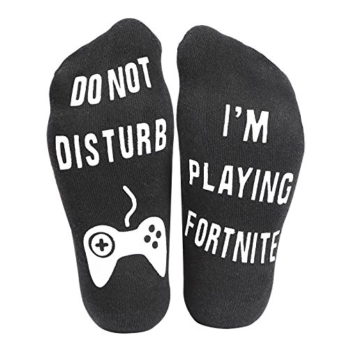 'Do Not Disturb' I'm Playing Fortnite' Funny Ankle Socks - Great Gamer Gift For Fornite Lovers,Birthday,Anniversary,Valentine's Day,Father's Day,Christmas Day