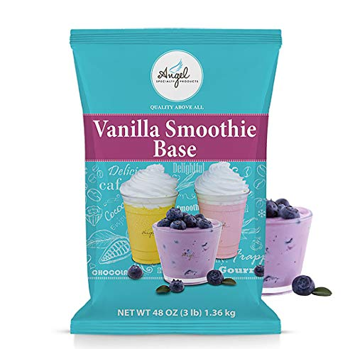 Vanilla Smoothie Base - Angel Specialty Products, Blended Creme Vanilla Smoothie Base, Instant Frappe Powder Mix [3 LB]