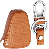 RPKEY Leather Keyless Entry Remote Control Key Fob Cover Case protector For Jeep Commander Grand Cherokee Liberty M3N5WY72XX K0BDT04A OHT692427AA
